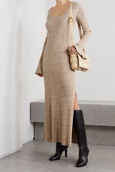 15 Dresses, Dress Outfits, Fashion Dresses, Cotton Slip, Long Sleeve Maxi, Weekend Style, Fashion 2020, Knit Dress, Korean Fashion