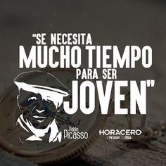 """""""Se necesita mucho tiempo para ser joven"""" Pablo Picasso #Frases #FraseDelDía"""