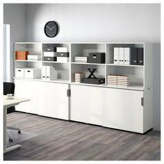Option 2 for Marketing Room GALANT Storage combination w sliding doors - white - IKEA Industrial Office Design, Home Office Design, Interior Design Living Room, Ikea Inspiration, Replacement Furniture Legs, White Office Furniture, Internal Folding Doors, Design Innovation, Home Office Storage