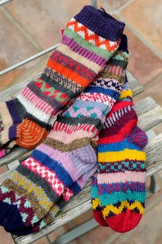 Recycled Wool Socks – I want a pair of these! They look awesome! Recycled Wool Socks – I want a pair of these! They look awesome! Crochet Socks, Knitting Socks, Hand Knitting, Knitting Patterns, Knit Crochet, Cute Socks, My Socks, Crazy Socks, Wool Socks