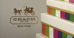 Coach Legacy Stripe Retail Packaging Program, simply beautiful.  #retail #packaging #design