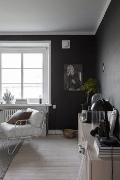 The monohcome home of Swedish interior stylist Elin Kickén. Alvhem.