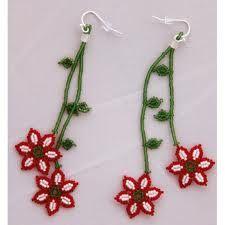 beaded flower earrings - Buscar con Google