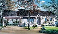 947sf Two-Bedroom Ranch (HWBDO09896)   Country House Plan from BuilderHousePlans.com