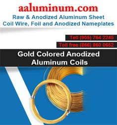 Tons of Anodized, Colored, Coated Aluminum Coil ready to ship. We are the major Supplier of Aluminum Coil In Toronto, Ontario Canada and USA Metal Store, Aluminum Metal, Toronto Canada, Metals, Ontario, Wire, Range, Cookers, Cable