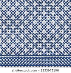 chasikis portefølje hos Shutterstock Fair Isle Knitting Patterns, Fair Isle Pattern, Knitting Charts, Knitting Stitches, Knitting Socks, Knit Patterns, Cross Stitch Patterns, Summer Knitting, Filet Crochet