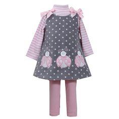 Bonnie Jean Ladybug Fleece Jumper Set - Baby