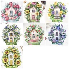 Shabby Chic Paper, Pretty Nail Art, Cute Animal Drawings, House Drawing, Decoupage Paper, Cross Stitch Flowers, Print Artist, Paper Decorations, Art Sketchbook
