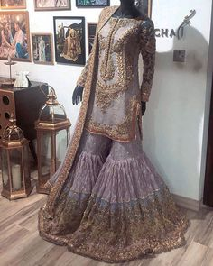 Book ur dress now.Book ur dress now Completely stitched Customised in all colours For booking ur dress plz dm or whatsapp at 9831775535 Pakistani Fashion Party Wear, Pakistani Wedding Outfits, Pakistani Wedding Dresses, Bridal Outfits, Pakistani Gharara, Sabyasachi, Simple Pakistani Dresses, Pakistani Dress Design, Indian Dresses