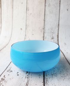 Vintage alsterfors Blue Cased Glass 'finger bowl' 1946 – Very Unusual Colour by TheRetroEdit on Etsy