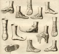 Sandals from Diderot's Encyclopédie, 1751–72.