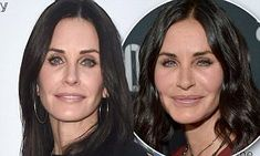 Courteney Cox has done away with facial fillers after using them for years to try and maintain her youthful appearance, the revealed all the fillers previously in her face have dissolved. Facial Fillers, Botox Fillers, Dermal Fillers, Mail Online, Daily Mail, Drink, Natural, Face, Beverage