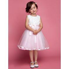 vestido de niña de las flores de la boda / tarde net / tul sin mangas – EUR € 42.97