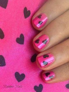 #manicure #cute #hearts #pink #camillelavie