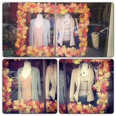 Fall window display at Twirl!  #Twirl #thetwirlgirl #fall window