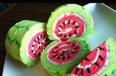 vattenmelon rulltårta