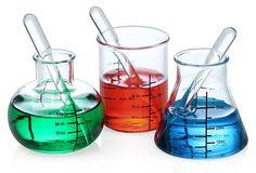 Laboratory shot glasses.