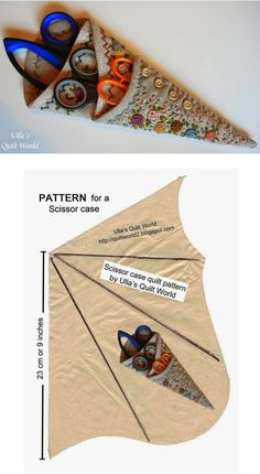 Ulla's Quilt World: Scissor case quilt PATTERN – Famous Last Words Quilting Beads Patterns Sewing Tools, Sewing Notions, Sewing Hacks, Sewing Tutorials, Sewing Kits, Fabric Crafts, Sewing Crafts, Sewing Projects, Techniques Couture