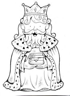 Discover recipes, home ideas, style inspiration and other ideas to try. Easter Coloring Pages, Christmas Coloring Pages, Coloring Book Pages, Christmas Projects, Kids Christmas, Happy Three Kings Day, Christmas Cards Drawing, King Picture, Kids Castle