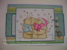Forever Friends cosy christmas, one of the stamps