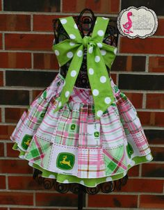 John Deere Boutique dress sizes 2345 by sillygoosecreations2