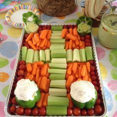 Veggie tray with cross we made for  Easter
