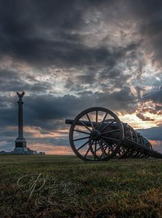 """Dawn's Early Light"" - New York Monument and Cannons - Antietam National Battlefield Holly Kuchera photo taken: Big Dogs, Cannon, Dawn, Artwork, York, Photos, Work Of Art, Pictures, Canon"