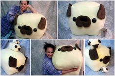 GIANT PUG loaf pillow!
