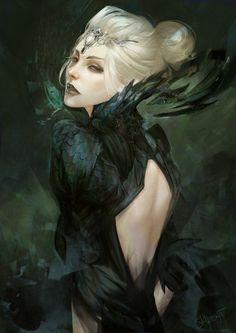 Commission, Dark Priestess by Skyzocat.deviantart.com on @DeviantArt