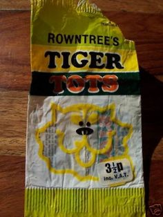 Tiger Tots were made as part of the same range as Jelly Tots and made by Rowntree, but these had an array of different sweets in them, so a bit . Old Sweets, Vintage Sweets, Retro Sweets, 1970s Childhood, My Childhood Memories, Sweet Memories, Memories Box, Jelly Tots, Kids Tv