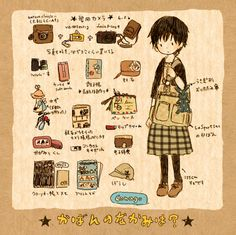 "Lol I love this, a ""how to"" guide to being a perfectly accessorized Mori girl!"