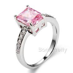 $ 4,99 Anel de Gemstone Colorido Brilhante Rhinestone Crystal Ring Romântico - BornPrettyStore.com