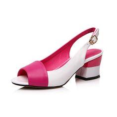 Women sandals summer peep toe full grain leather by LadiesShoes, $66.00