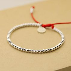 925 Sterling Silver Beads Lucky Red Rope with MONEY Charm – zenheavens Sterling Silver Bead Bracelet, Silver Bracelets, Sterling Silver Pendants, Beaded Bracelets, Ankle Bracelets, Silver Jewelry Cleaner, Cheap Silver Rings, Silver Beads, Silver Earrings