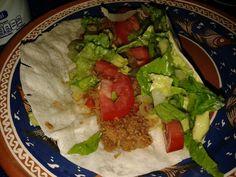 Burrito de machaca estilo Sonora. Olvidamos los frijoles pero igual estaba rico :)