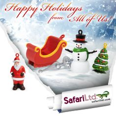 Happy Holidays from Safari Ltd. Your home for educational #toys, #animal figures, and #dinosaur collectibles. www.safariltd.com
