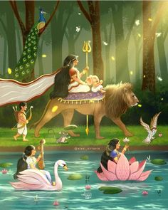 Arte Shiva, Shiva Art, Ganesha Art, Krishna Art, Hindu Art, Durga Painting, Lord Shiva Painting, Saraswati Goddess, Goddess Art