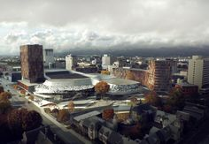 Image 3 of 3 from gallery of Woods Bagot Reveals Plans for Christchurch Convention Centre. Photograph by Woods Bagot Christchurch New Zealand, 3d Visualization, Global Design, Convention Centre, San Francisco Skyline, New York Skyline, How To Plan, Architecture, City