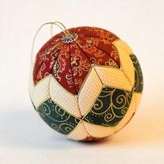 Esferas navideñas con retazos de tela - Dale Detalles