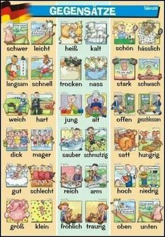 Adjektive - Gegensätze | #Deutsch #German #Alemán