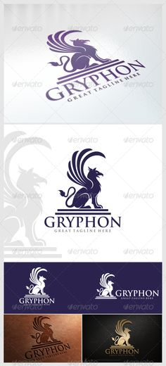 Gryphon Logo Template — Vector EPS #luxury #wings • Available here → https://graphicriver.net/item/gryphon-logo-template/6089960?ref=pxcr