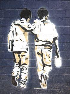 Friends wall mural