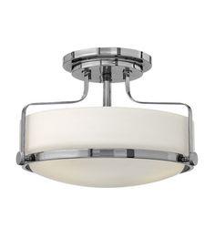 Hinkley Lighting Harper 3 Light Flush Mount in Chrome 3641CM #hinkley #hinkleylighting #lightingnewyork #outdoorlighting #lighting