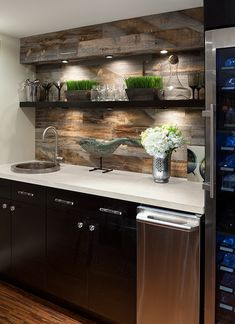Turning Your Basement into the Ultimate Man Cave Can Be Fun - Man Cave Home Bar Wet Bar Basement, Basement Kitchenette, Basement Bar Designs, Home Bar Designs, Basement House, Basement Ideas, Kitchenette Ideas, Dark Basement, Rustic Basement