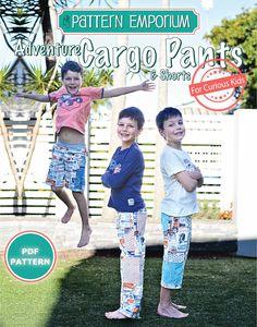 Boys Adventure Cargo Pants & Shorts PDF Pattern by MyPatternEmporium on Etsy https://www.etsy.com/listing/198495865/boys-adventure-cargo-pants-shorts-pdf