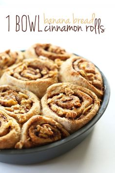 AMAZING-1-Bowl-Banana-Bread-Cinnamon-Rolls!-9-ingredients,-simple-and-#VEGAN