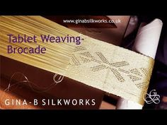 Tablet Weaving - Brocade - YouTube