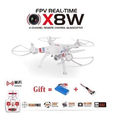 Syma X8W & X8C Upgrade Version FPV WiFi Camera Drone 2.4G 4ch 6 Axis RC Quadcopter With 2MP Wide Angle Camera RTF RC Helicopter