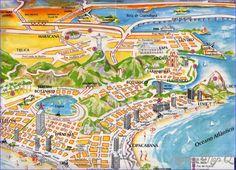 Rio de Janeiro Map Tourist Attractions - http://holidaymapq.com/rio-de-janeiro-map-tourist-attractions-2.html