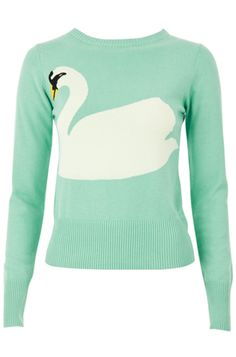 Louche Swan Lake Intarsia Sweater